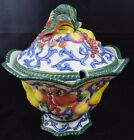 Fitz and Floyd, Florentine Fruit Pattern, Very large soup Tureen,