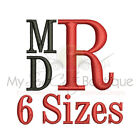 Stacked Monogram Machine Embroidery Font 6 Sizes IMPFCD38