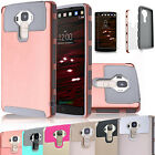 Case Cover For LG V10 Hybrid Dual Layer Shockproof Rugged Rubber Hard Glossy New