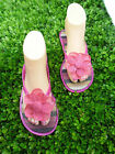Fuchsia Womens Flat Sandals Size 55 85
