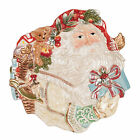 NIB Fitz and Floyd Enchanted Holiday Santa Canape Plate 19-1452