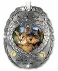 Loving Memory Pet Photo Remembrance Ornament Embossed with the Saying Heaven