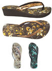 WHOLESALE LOT Womens Sandals Wedge Glitter Flip Flop Shoes 36 Pairs 5013