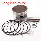 250cc ZongShen CB250 69mm Piston Set 17mm Pin For Dirt Bike ATV Quad Motorcycle