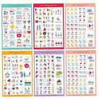 5pcs set Calendar Scrapbook Diary Book Decor Paper Planner Sticker