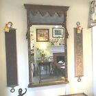 Antique Neoclassical wooden Wall Mirror home decor furniture vintage Art