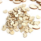 100 200 pcs Wooden Love Heart Shape for Weddings Plaques Art Craft Embellishment