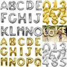 16 Letter  Number Foil Balloons Birthday Wedding Party Decoration Gold Silver