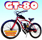 GT 80 OR 50 CC GAS MOTOR MOTORIZED ENGINE  26 BIKE BICYCLE MOPED SCOOTER KIT