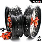 KKE 3.5//4.5*17  SUPERMOTO CUSH WHEELS SET FIT KTM 625 SMC 04-06 640 LC4 660 SMC