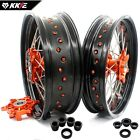 KKE 3.5*17/4.25*17 SUPERMOTO CUSH WHEELS RIMS SET FOR KTM690 ENDURO R KTM690 SMC