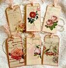 Vintage Roses 6 Large Hang Tags Scrapbooking Cards Crafts 100 judysjemscrafts