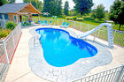 In Ground Fiberglass Pool Leading Edge Traverse Bay Display model