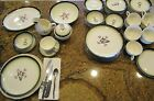 Mid Century Dinnerware 66 Pc. Set Plates Bowls Cups Creamer Sugar Bowl Dishes