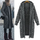 Women Ladies Warm Knit Dress Hooded Coat Vest AU Size 18 20 22 24 26 28 #51021