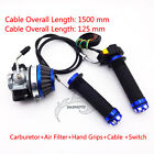 Carburetor Air Filter Throttle Grips Cable Switch For 50cc 60 80 cc Gas Bicycle