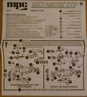 MPC 1/25th Scale 1967 GTO German Instruction Sheet