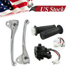 Twist Throttle Housing Hand Grip & Brake Lever Kit for Yamaha PW50 PY50 Pit Bike