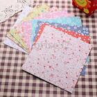 72 Sheets Floral Square Folding Crane Origami Chiyogami Craft Lucky Wish Paper