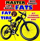 FAT Tire 80cc Gas Motor COMPLETE Master ENGINE WITH A 26 BIKE BICYCLE MOPED KIT