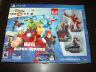 DISNEY INFINITY MARVEL SUPER HEROES PS4 VIDEO GAME STARTER PACK PLAY STATION 4