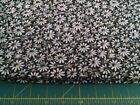 crazy daisy black yellow center 100 cotton fabric by half yard