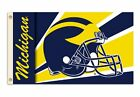 NEW NCAA Michigan Wolverines 3 by 5 Foot Flag with Grommets Helmet Design
