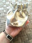 Authentic Dolce & Gabbana D&G women's wrist watch black leather band w/ pouch