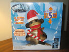 NEW CHRISTMAS SOCK MONKEY 5 Feet Tall Airblown Inflatable w Candy Cane LED 5 ft