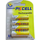 4 x Ni-MH 1.2V 1300mAh AA Rechargeable Batteries 2A Battery PKCELL