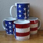 WARREN KIMBLE COLONIAL MUGS 4 CUP FLAG PATRIOTIC AMERICAN 4TH OF JULY