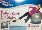 Weight Watchers Belly Butt Thighs Stability Ball 3 Complete Exercise Workout DVD