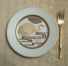 Fitz & Floyd Golden Heron 5 Salad Plates, old stock