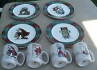 Norman Rockwell Saturday Evening Post Vintage Christmas Luncheon Plates
