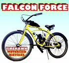 USA SELLER NEW 2018 FALCON FORCE 50 80 CC GAS MOTOR  26 BIKE SCOOTER MOPED
