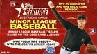 2012 Topps Heritage Minors Baseball Hobby Box - Factory Sealed!
