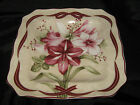 222 FIFTH YULETIDE CELEBRATION AMARYLLIS SALAD PLATES - SET OF 4 - NEW