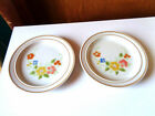 Sweet Flowers Collection 305 Stoneware Bread Plates - Lot of 2 - Japan