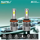 H11 H9 H8 980W 147000LM 2017 Fanless CREE LED Headlight Kit 6000K White Bulbs