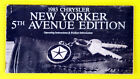 New Yorker 5th Avenue 83 1983 Chrysler Owners Owner's Manual All Models