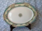 LENOX Monticello (Older Green) TEAL  Floral pattern LARGE 17