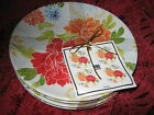 222 FIFTH HUANG - ROUND APPETIZER PLATES - SET OF 8 - NEW