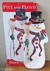 FITZ & FLOYD Essentials SNACK THERAPY Xmas Snowman Server/Platter/Tray/Dish