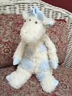Jellycat Baby London Giraffe Plush Spotted Cream Blue Stuffed Animal 16