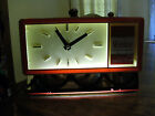 Red Plastic Electric Lited Clock Advertising Winston Cigaretts