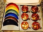 VIntage 12 pc Figgjo Flint Norway Espresso Demitasse Set Cups/Saucers UNUSED!!!!
