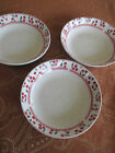 Majestic by Oneida Cherries Jubilee 3 Salad Bowls 7.5 inches