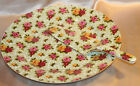 Formalities By Baum Bros. Cake Plate with Spatular  Moss Rose Chintz