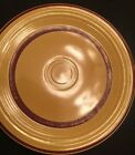 Rare Striped Maroon And Yellow Fiesta Ware Vintage Plate