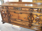Paine Furniture Co Walnut and Oak Buffet and Blind China Hutch